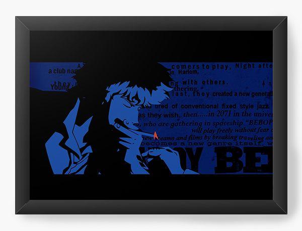 Quadro Decorativo A4(33X24) Anime Cowboy Bebop