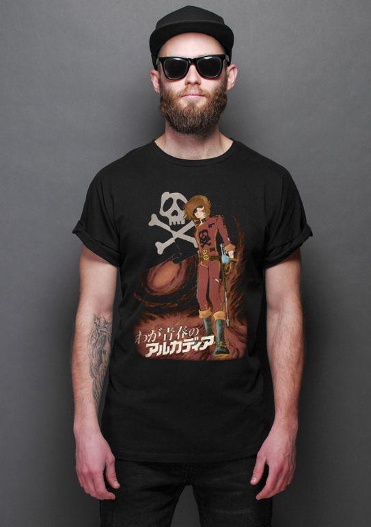 Camiseta Anime Space Pirate captain harlock