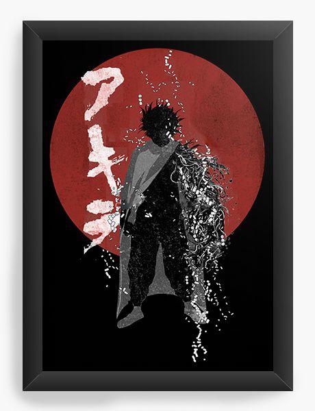Quadro Decorativo A4(33X24) Anime Akira Tetsuo Shima
