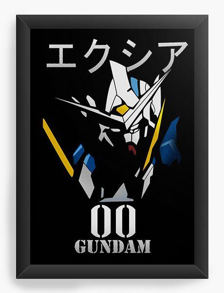 Quadro Decorativo A4(33X24) Anime Gundam Exia 00 Mobile Suit