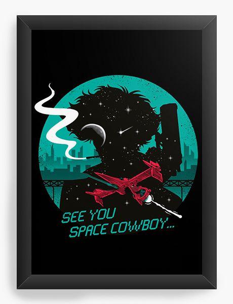 Quadro Decorativo A4(33X24) Anime Cowboy Bebop See you
