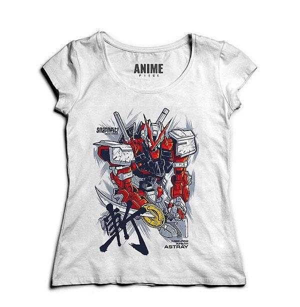Camiseta  Feminina Anime Gundam Astray Red Frame