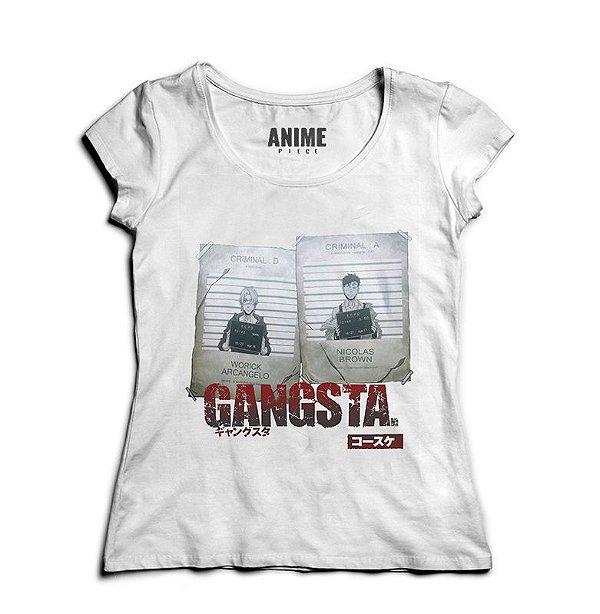 Camiseta  Feminina Anime   GANGSTA.