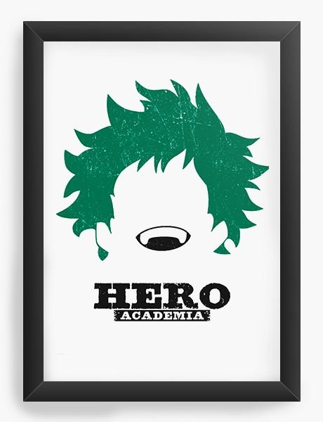 Quadro Decorativo A4(33X24) Anime   My hero Academia Deku