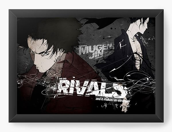 Quadro Decorativo A4(33X24) Anime Samurai Shamploo Rivals