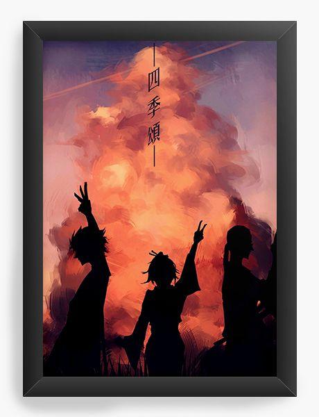 Quadro Decorativo A4(33X24) Anime Samurai Shamploo Sky