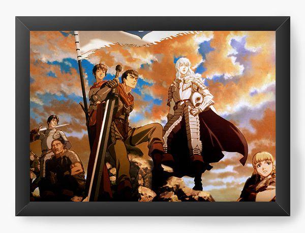 Quadro Decorativo A4(33X24) Anime Berserk Fantasy World