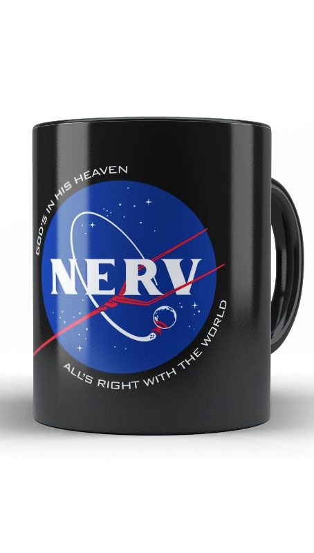 Caneca Anime Neon Genesis Evangelion N.E.R.V