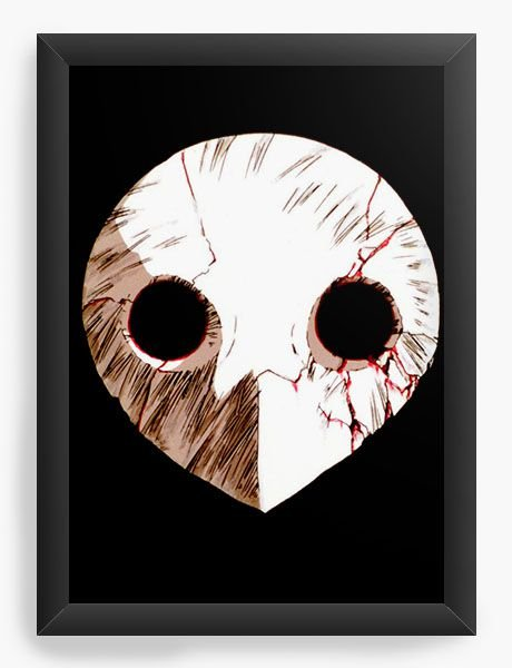 Quadro Decorativo A4(33X24) Anime Neon Genesis Evangelion Mask