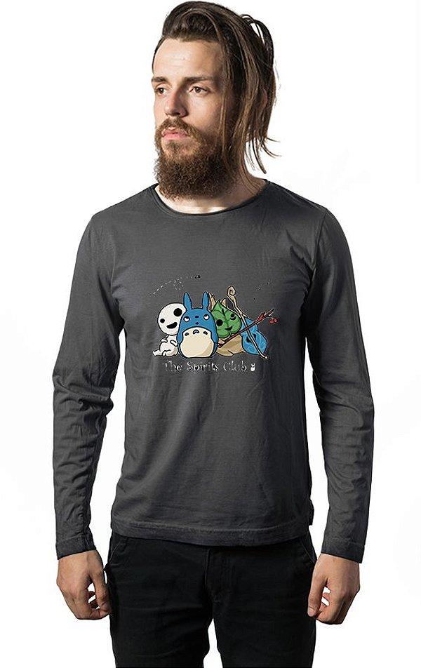 Camiseta Manga Longa Anime Totoro The Spirits Club