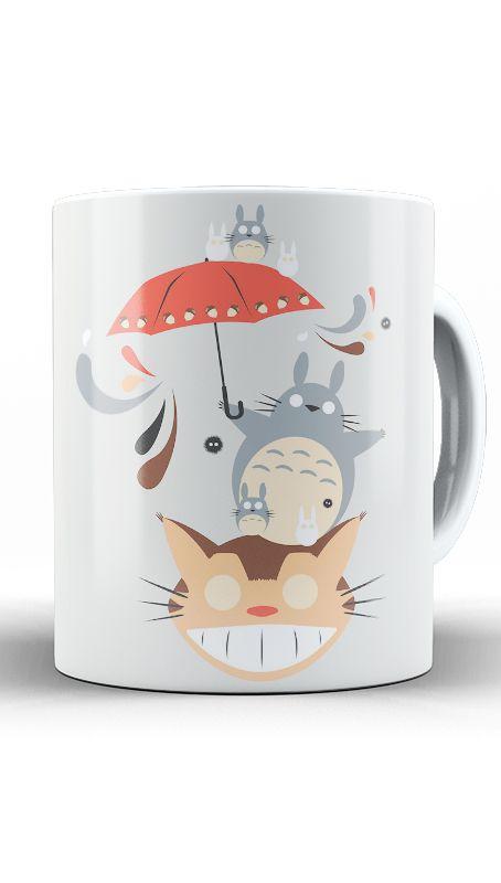 Caneca Anime Totoro Neighborhood Friends