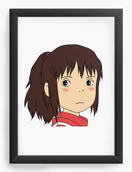 Quadro Decorativo A4(33X24) Chihiro