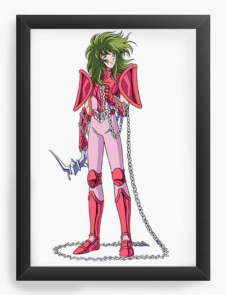 Quadro Decorativo A4(33X24) Anime Shun de Andrômeda