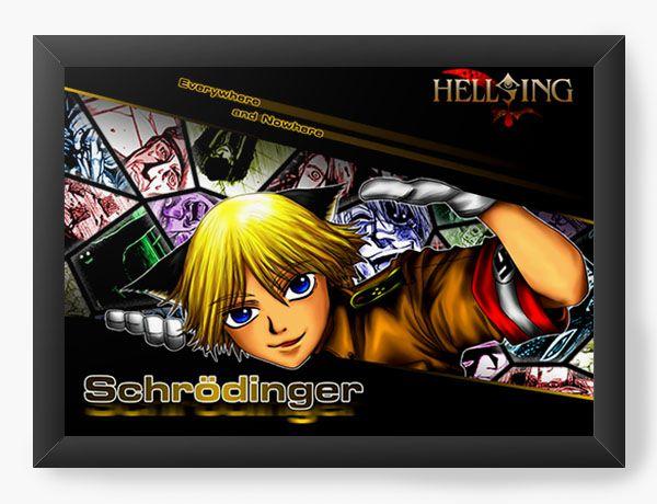 Quadro Decorativo A4(33X24) Anime Hellsing Everywere and Nowhere