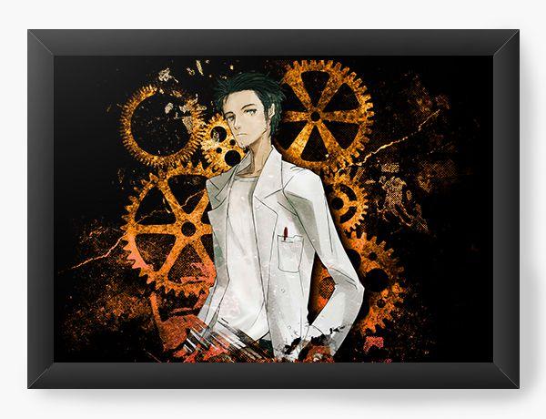 Quadro Decorativo A4(33X24) Anime Steins Gate - Rintarō Okabe