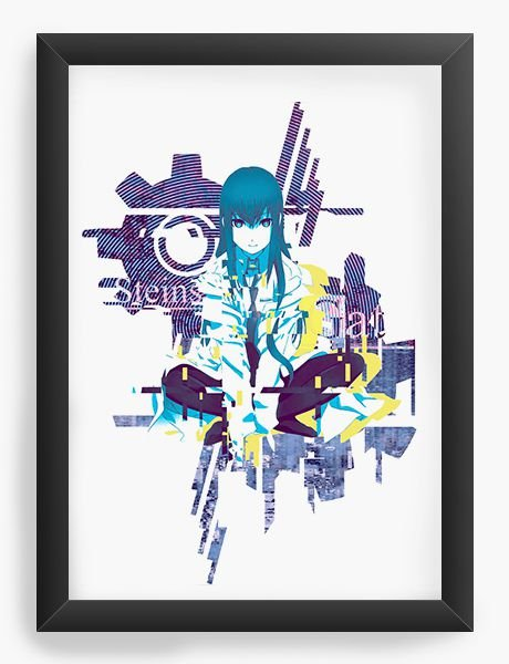 Quadro Decorativo A4(33X24) Anime Steins;Gate Kurisu