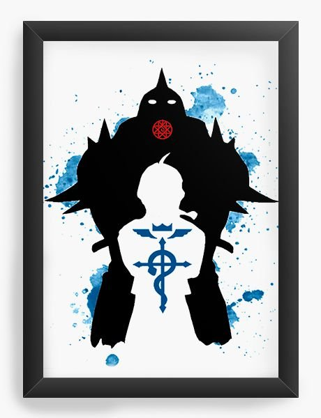 Quadro Decorativo A4(33X24) Anime Epic Fullmetal Alchemist