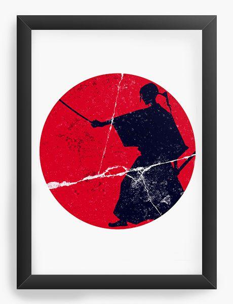 Quadro Decorativo A4(33X24) Anime Samurai Champloo Jin