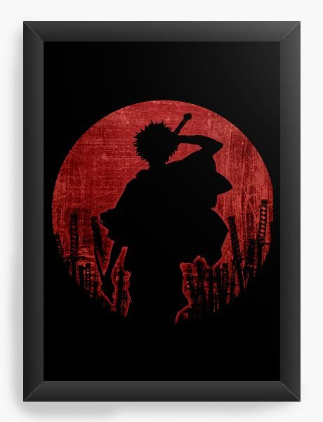 Quadro Decorativo A4(33X24) Anime Samurai Champloo Warrior