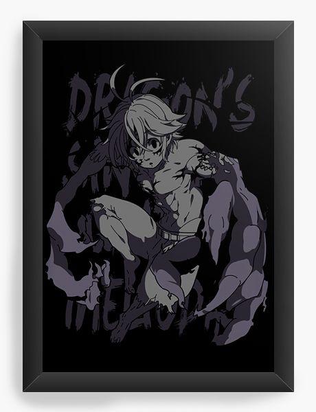 Quadro Decorativo A3 (45X33) Anime  Dragon's Sin of Wrath