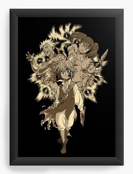 Quadro Decorativo A3 (45X33) Anime Nanatsu no Taizai