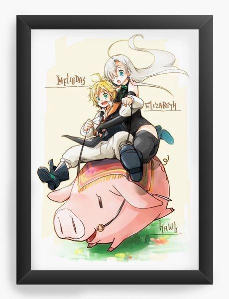 Quadro Decorativo A3 (45X33) Anime The Seven Deadly Sins
