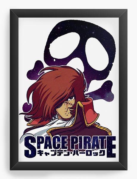 Quadro Decorativo A3 (45X33) Anime Space Pirate captain harlock
