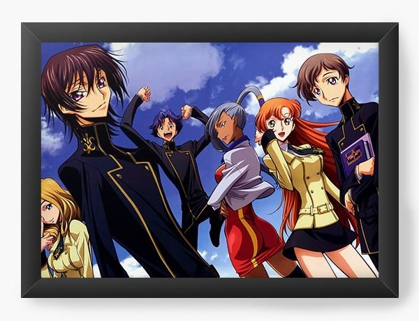 Quadro Decorativo A3 (45X33) Anime  Code Geass Great team