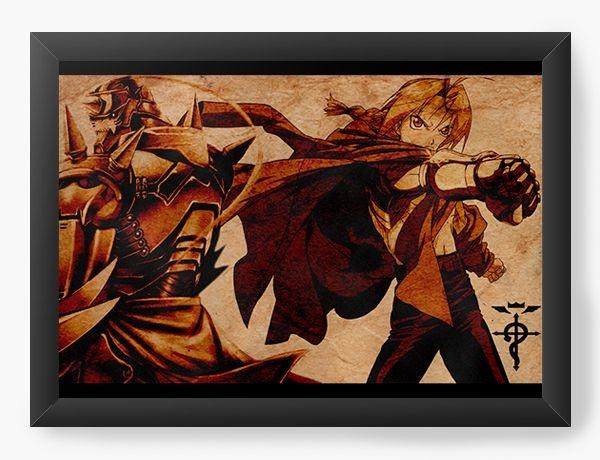Quadro Decorativo A3 (45X33) Anime Fullmetal Alchemist Edward the  Alphonse Elric