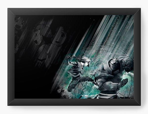 Quadro Decorativo A3 (45X33) Anime Fullmetal Alchemist Fight and power