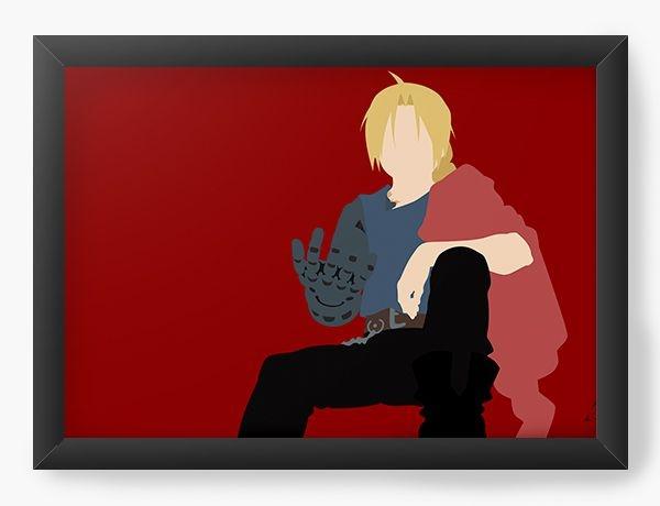 Quadro Decorativo A3 (45X33) Anime Fullmetal Alchemist Edward Elric