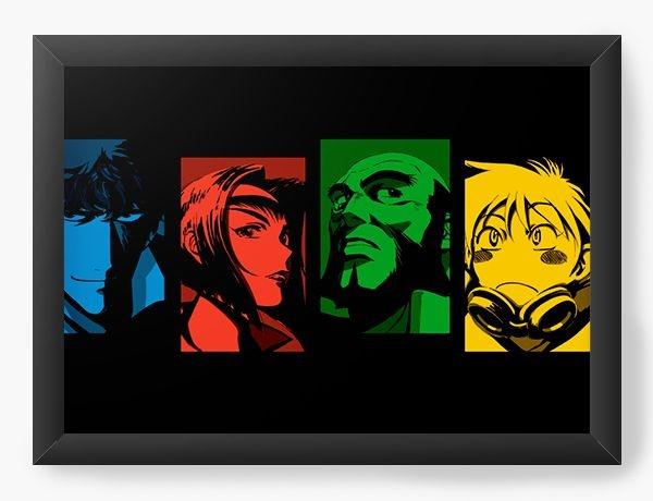 Quadro Decorativo A3 (45X33) Anime Cowboy Bebop History