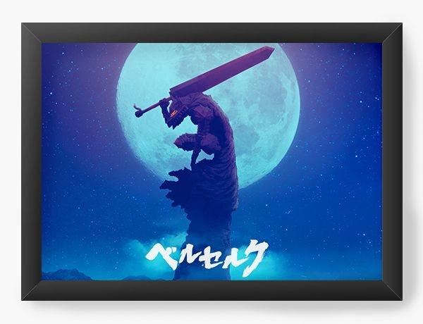 Quadro Decorativo A3 (45X33) Anime Berserk Full moon