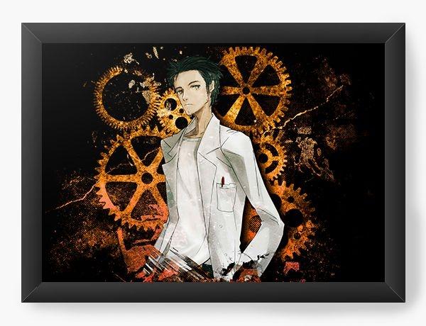Quadro Decorativo A3 (45X33) Anime Steins Gate - Rintarō Okabe