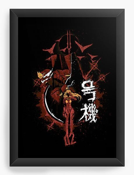 Quadro Decorativo A3 (45X33) Anime   Neon Genesis Evangelion Asuka