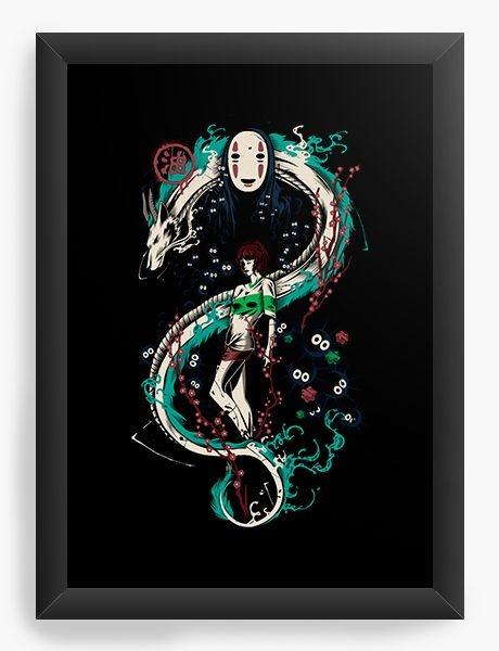 Quadro Decorativo A3 (45X33) Anime   Spirited Graffiti