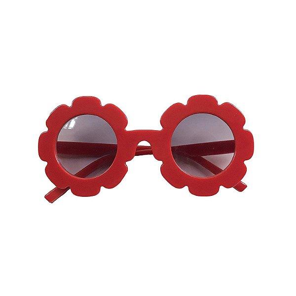 Óculos de Flor Vermelho
