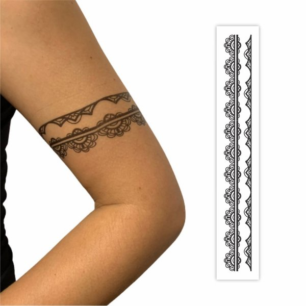 Tatuagem Temporária   Bracelete  032