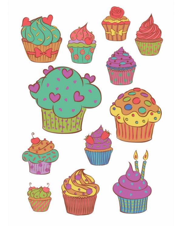Adesivo Decorativo Cupcake