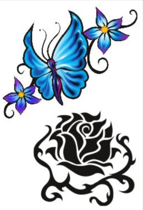 C003 Flores e Borboleta