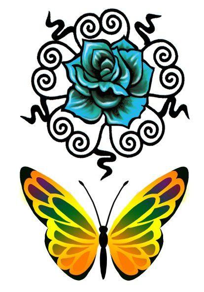 C006 Flor e Borboleta