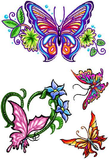 C012 Borboleta e Flores
