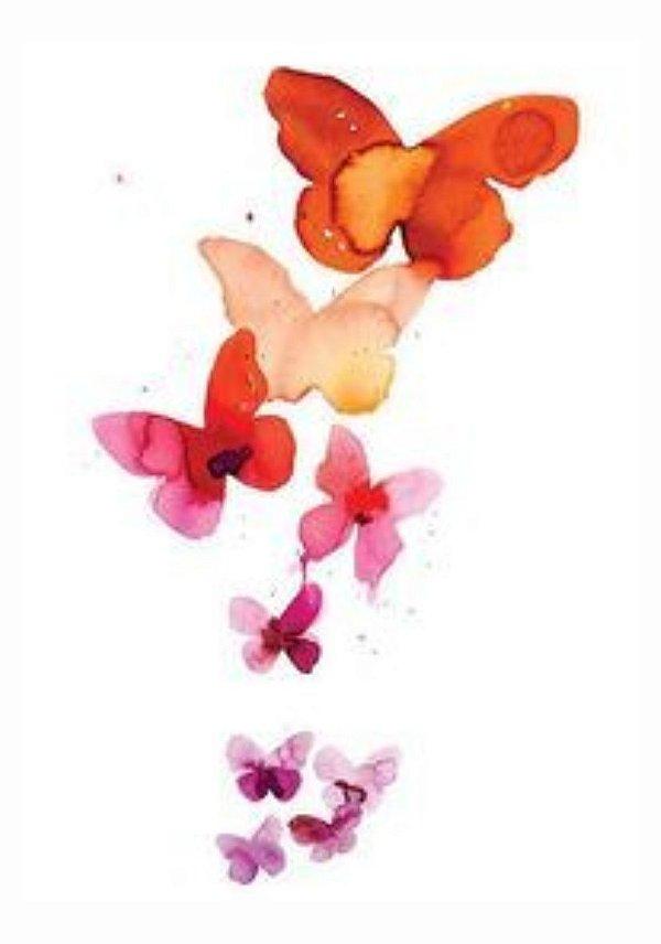AQ002 Borboletas, Flores