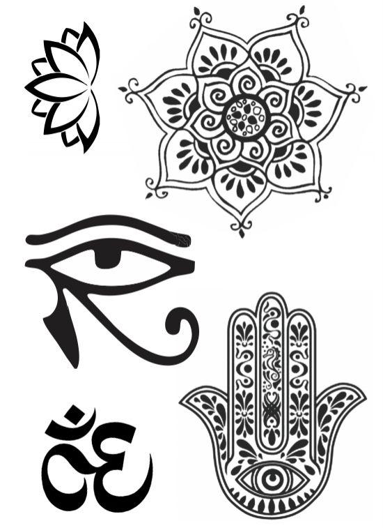 PB006 Manda, Olho de Hórus, Mão de Fátima e Ohm