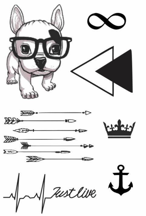 PB014 Cachorro, Infinito, Flechas e Âncora