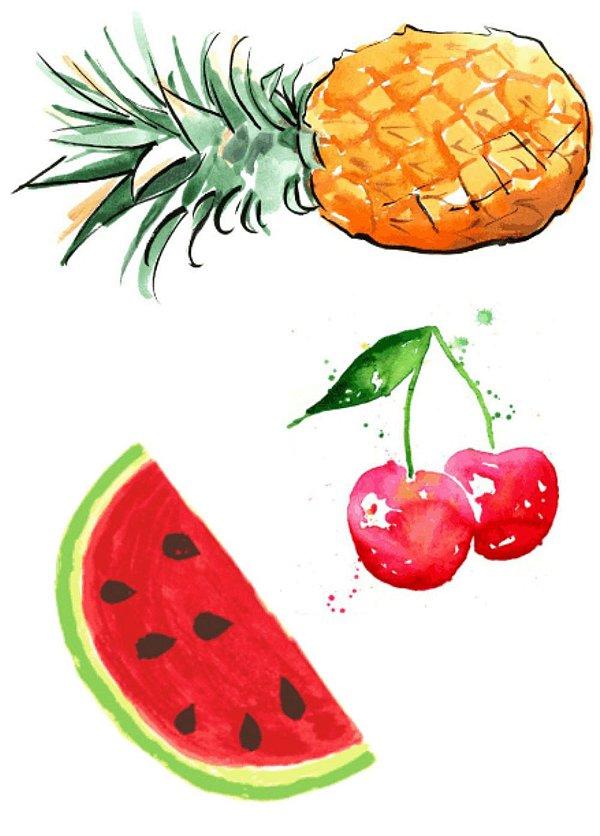 AQ002 Abacaxi, Melancia e Cereja
