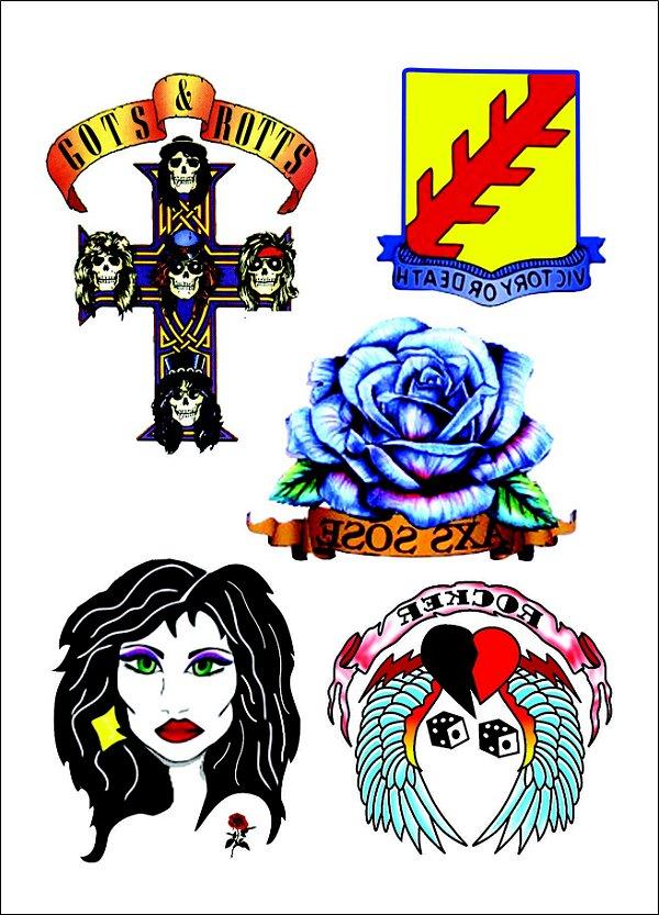 Kit tatuagens Axl Rose