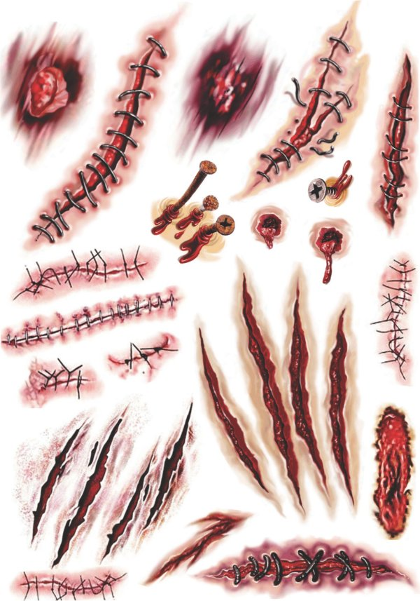 Kit Tatuagens Cicatrizes