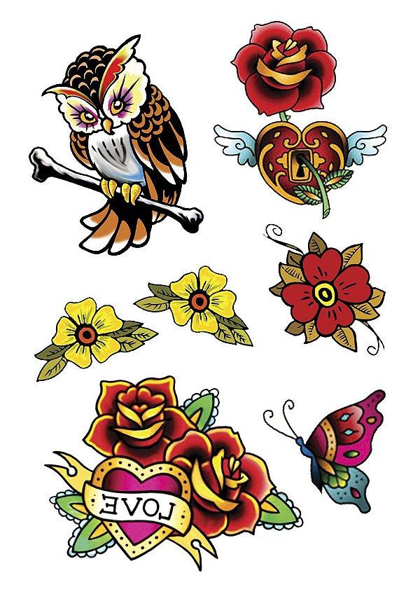 VG003  Coruja e flores