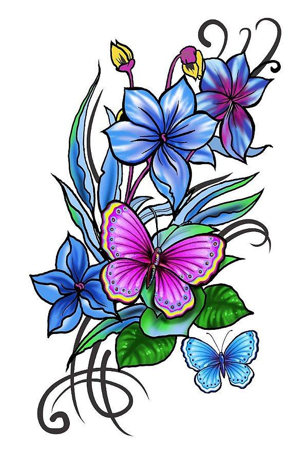 005 Feminina Grande flores